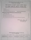 Application taxation document list cover