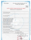 Certicate of tax registration