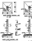 Sectional drawings of footing of construction items, scale 1/50