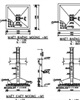 01 - Sectional drawings of footing of construction items, scale 1/50