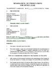 Notarized contract on office lease