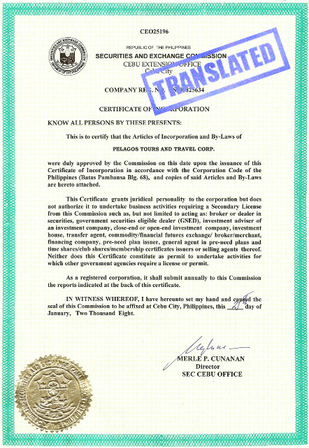 Hochiminh eregulations 2014 vietnamese or english version of certificate of incorporation yelopaper Choice Image